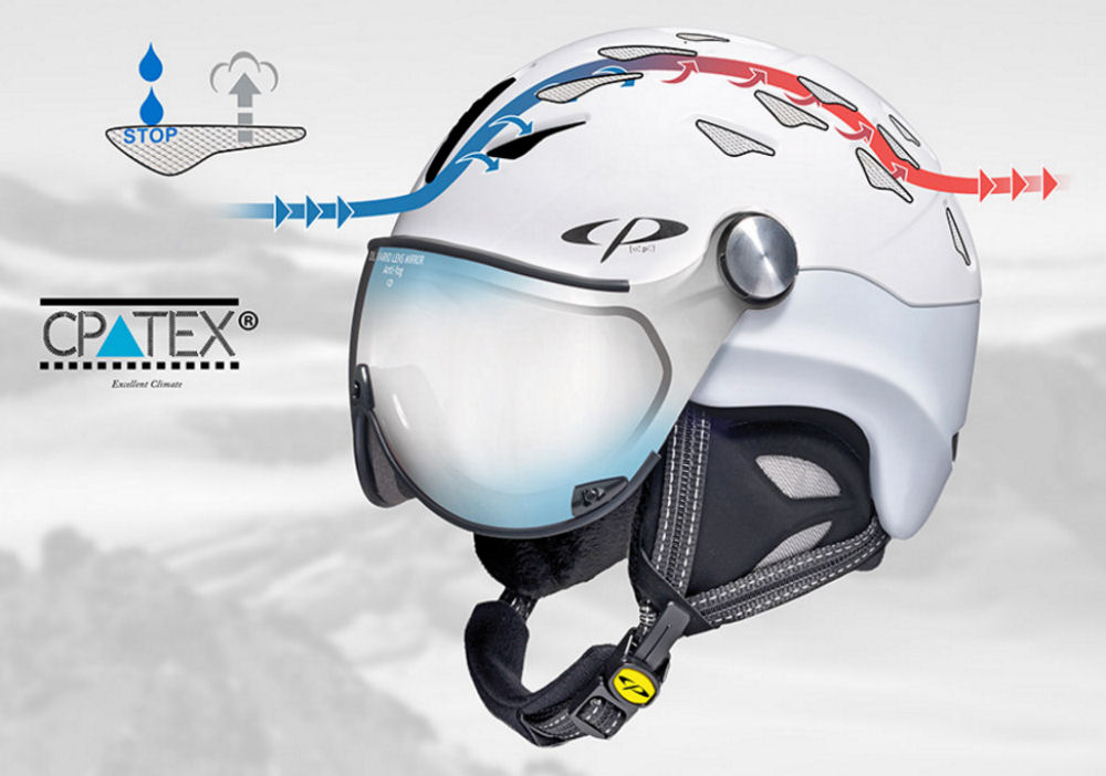 Cp cuma ski helmet with visor - Best ski helmet for goggle wearers. with perfect ventilation