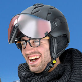 Ski helmet wit visor of top brand buy? go to topsnowshop.eu for ski helmets with visor of top brands