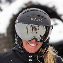 kask skihelm met vizier voor dames