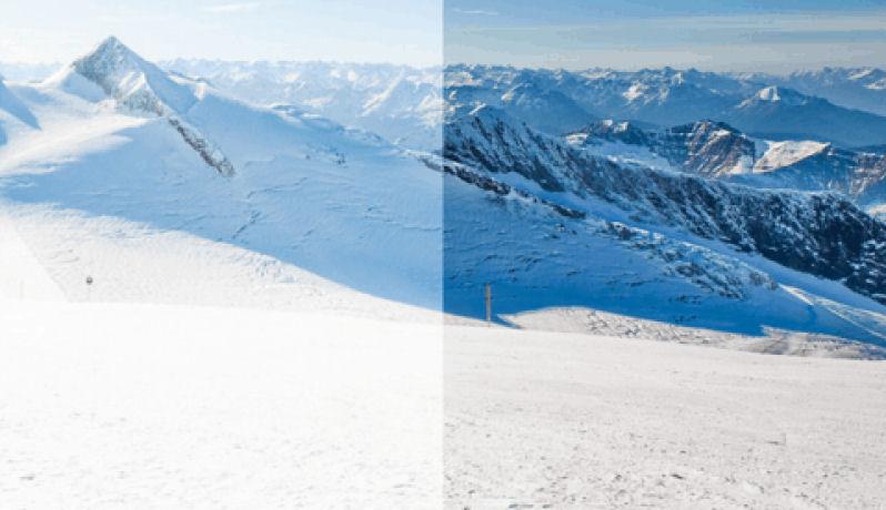 skihelm vizier polariserend voor scherper beeld