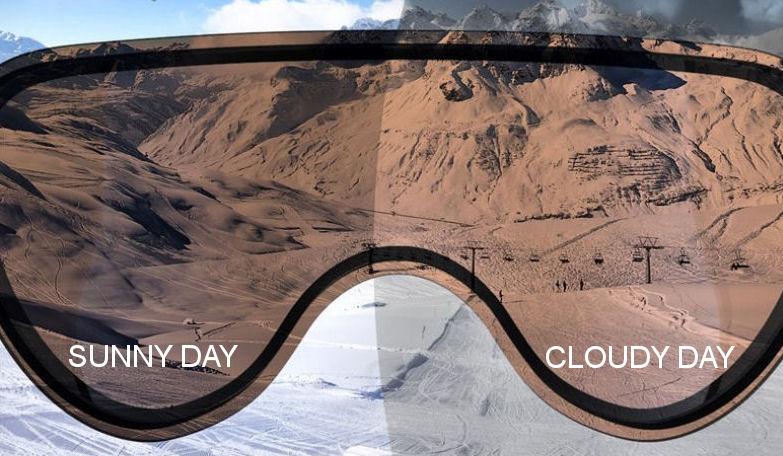 Slokker Skihelm mit Visier kaufen - photochrom visier und polarisiert visier
